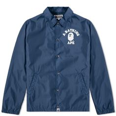 b9ed775b2e34 A Bathing Ape College Coach Jacket (Navy)