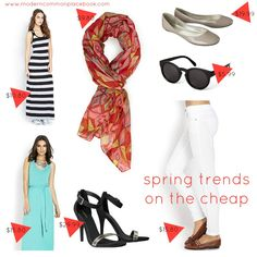 Spring Trends on the Cheap (Nothing over $30!) #fashion #springtrends #budget www.moderncommonplacebook.com