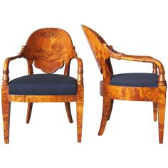 Pair of Neoclassical Armchairs 1