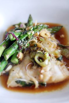 Cod With Asparagus in Parchment Paper- so easy, no clean-up, and only 20 minutes start to finish!