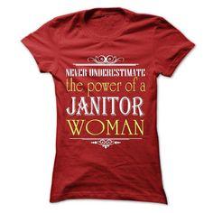 Janitor women Cool Janitor T Shirt (*_*)