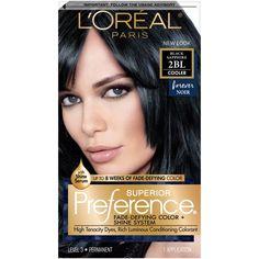 L'Oreal Paris Superior Preference Fade-Defying Color + Shine System - 2BL Black Sapphire - 1 Kit