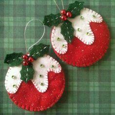 Resultado de imagen para moldes de coronas de navidad en fieltro