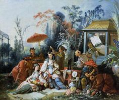 Francois Boucher - The Chinese Garden  (via Susie Newman)