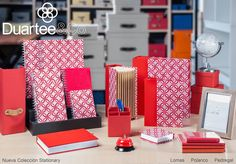 Stationary Print Greco Rojo