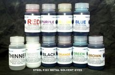 Colored Solvent Dyes For Metal
