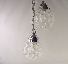 vintage atomic hanging lamp ceiling fixture mid century modern chrome clear glass globes chandelier retro home decor decorative. $135.00, via Etsy. D3
