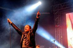 Francois van Coke on stage during Fokofpolisiekar's performance  Oppikoppi 2012