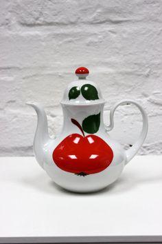 Vintage Kanne Seltmann Weiden Apfel Patricia Kaffeekanne Teekanne Mokka 70er Jahre
