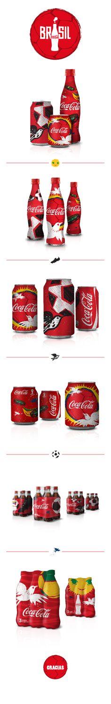 #Packaging #Coca-Cola 2014 by Sebastian Mogollon, via Behance PD