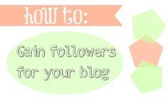 B.You: How to gain followers #blog #marketing