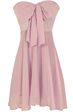 Lily Boutique Oversized Bow Chiffon Dress in Lavender, $40  www.lilyboutique.com
