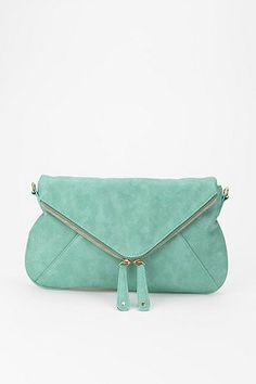 URBAN OUTFITTERS Kimchi Blue Double Zip Envelope Clutch/Crossbody Purse - in Mint or Coral