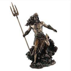 Neptune God of the Sea Statue Roman Greek Poseidon Home Decor Rome Figure