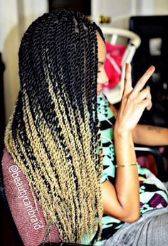 ombre senegalese twist - Google Search