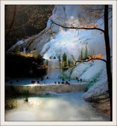 Hot springs in Italy
