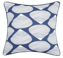 Fun seaside style can be yours with this 20 x 20 Navy Blue Quahog-Clam Shell Printed Pillow, perfect for a quick room update! Red White Blue, Navy And White, Navy Blue, Throw Pillow Sets, Throw Pillows, Seaside Style, Canvas Designs, Clams, Printing On Fabric