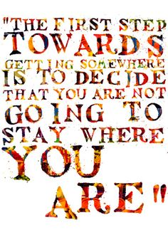 The first step... #travel #quote