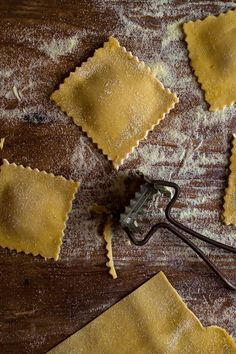 NYT Cooking: Pumpkin ravioli with sage walnut butter - These homemade ravioli are simple to make but add a wow factor to the holiday table. And they can be made ahead and frozen, and cooked up in minutes on the day. Vegetarian Thanksgiving, Thanksgiving Recipes, Thanksgiving 2017, Fall Recipes, Pumpkin Ravioli, Pumpkin Puree, Butter Recipe, Butter Sauce, Walnut Butter