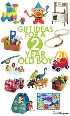 Toddler toys: Present ideas for 2-year-old boys although I think my daughter would love these as well.