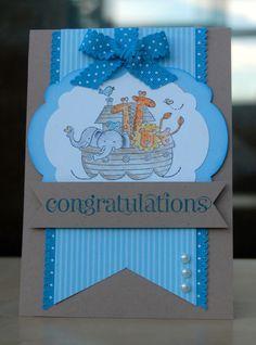 Baby Shower Card  I love the Noah's ark theme