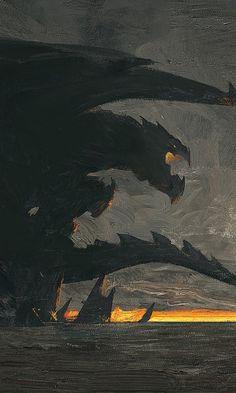 Dragon, fantasy, dark, art, 480x800 wallpaper