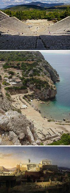 Relación de la arquitectura griega con el paisaje