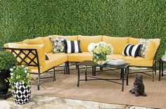 Shop grandinroad for a huge selection of outdoor furniture collections. Our patio furniture sets include sofas, lounge chairs, pool chaises and side tables. Patio Furniture Sets, Decks, Sofas, Summertime, Outdoor Living, Lounge, Decor Ideas, Halloween, Table