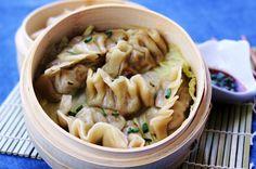 Steamed Asian Dumplings.  Grab your chopsticks... These were unbelievably good!