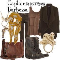 Disney Bound. Captain Barbossa theme style