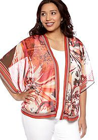 New Directions® Plus Size Sheer Cardigan