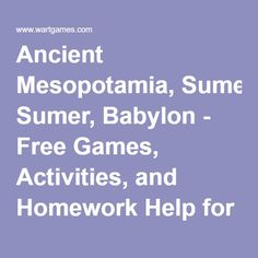 Ancient history homework help