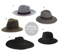 Now Craving: Wide Brimmed Hats  Love them all! But specially #5