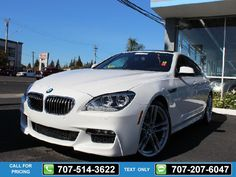 2013 BMW 6-Series 640i Grand Coupe 36k miles White Call for Price 36200 miles 707-514-3622 Transmission: Automatic  #BMW #6-Series #used #cars #NinoMotors #Vallejo #CA #tapcars