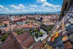 Coronavirus safest summer holidays in Europe - Sibiu copyright Fotokon  - European Best Destinations Sibiu Romania, Holiday Destinations, Amazing Destinations, Cathedral City, Europe, Lutheran, Roman Catholic, Aerial View, Birds In Flight