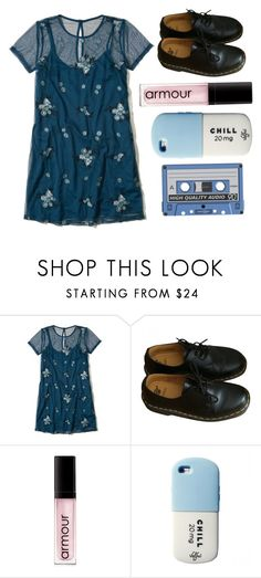 """""""Untitled #98"""" by chill-outfits ❤ liked on Polyvore featuring Hollister Co., Dr. Martens, Armour and Valfré"""
