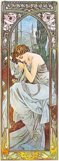 Alphonse Mucha Nocturnal Slumber (Repos De La Nuit)