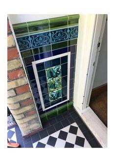 Victorian Front Garden, Victorian Front Doors, Victorian Hallway, Victorian Porch, Victorian Terrace House, Victorian Tiles, Edwardian House, 1920s House, House Front Porch