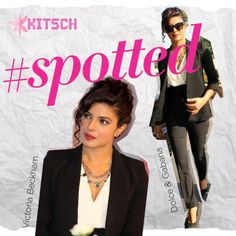 #Kitsch #Spotted: Priyanka Chopra in a Victoria Beckham shirt and jacket, which she paired with D&G Pants