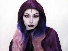 Raven Teen Titans Make up || Cosplay || Not a tutorial - YouTube