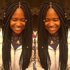 Beauty is her name. Box braid perfection for my little cousin.