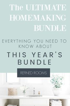 The Ultimate Homemaking Bundle is THE TOP RESOURCE for helping you to: get organized, create household systems that work, plan, simplify and declutter your home. Get the full scoop on what's included in this year's version + my top resource picks for home organization and decluttering. Declutter Your Home, Organize Your Life, Organizing Your Home, Organize Kids, Organizing Tips, Paper Organization, Life Organization, Home Staging Tips, Kitchen And Bath Design