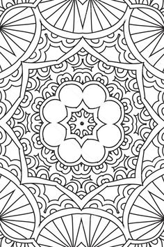 Fondo de Mandala. Elementos decorativos étnicos. Dibujado a mano. Libro de Coloringg para adultos — Ilustración de stock #120497634