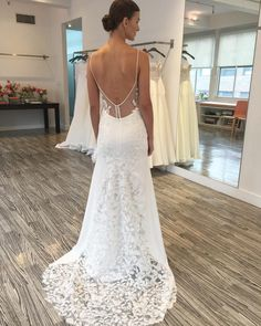 """New Arrival!!! Exquisite cascading floral petals back details of style """"The Inlet"""" V-neck silk crepe fit-to-flare gown featuring corded lace embroidery from Lela Rose Fall 2017 Wedding Collection! Available exclusively at Belle & Tulle Bridal! @lelarosebridal @lelarose #lelarosebridal #lelarose #newcollection #theinlet #lace #embroidery #cordedlace #silkcrepe #wedding #weddinggown #weddingdress #weddingshow #weddinginspiration #bridal #bride #bridetobe #bridalgown #bridaldress #bridalshow…"""