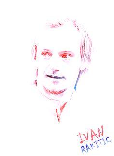 379. Drawing: Ivan Rakitic [@Acchunk Blank] Best Player, Fc Barcelona, Dream Team, First Love, Croatia, Drawings, Soccer, Football, Club