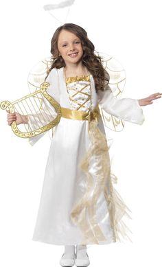 Este disfraz es perfecto para interpretar un bello ángel en Navidad.