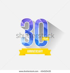30 Years Anniversary with Low Poly Design