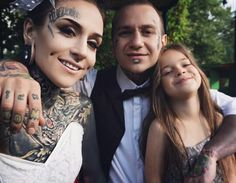 Love Tattoos, Girl Tattoos, Parent Tattoos, Tattoo People, Monami Frost, Tattoed Girls, Body Modifications, Family Goals, In The Flesh