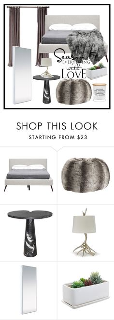 """""""Untitled #249"""" by salsabilla-fortuna ❤ liked on Polyvore featuring interior, interiors, interior design, home, home decor, interior decorating, Hansen, PBteen, Angelo and Modloft"""