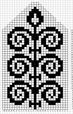 Tapestry Crochet Patterns, Fair Isle Knitting Patterns, Fair Isle Pattern, Knitting Charts, Loom Patterns, Cross Stitch Patterns, Knitted Mittens Pattern, Knitting Socks, Diy Accessories